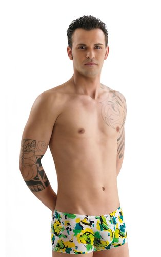 Bade-Boxer mit Push-Up removable Eros Veneziani