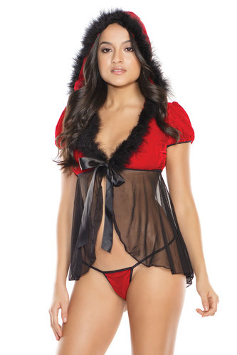 "Baby Doll & G-String Coquette ""XMAS"" Holiday"