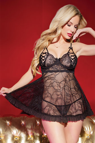 Babydoll & G-String Coquette Holiday