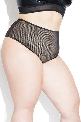 Thong High Waisted Fishnet Coquette